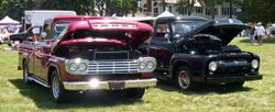 1959 (left) and 1954 (right) F-100 trucks
